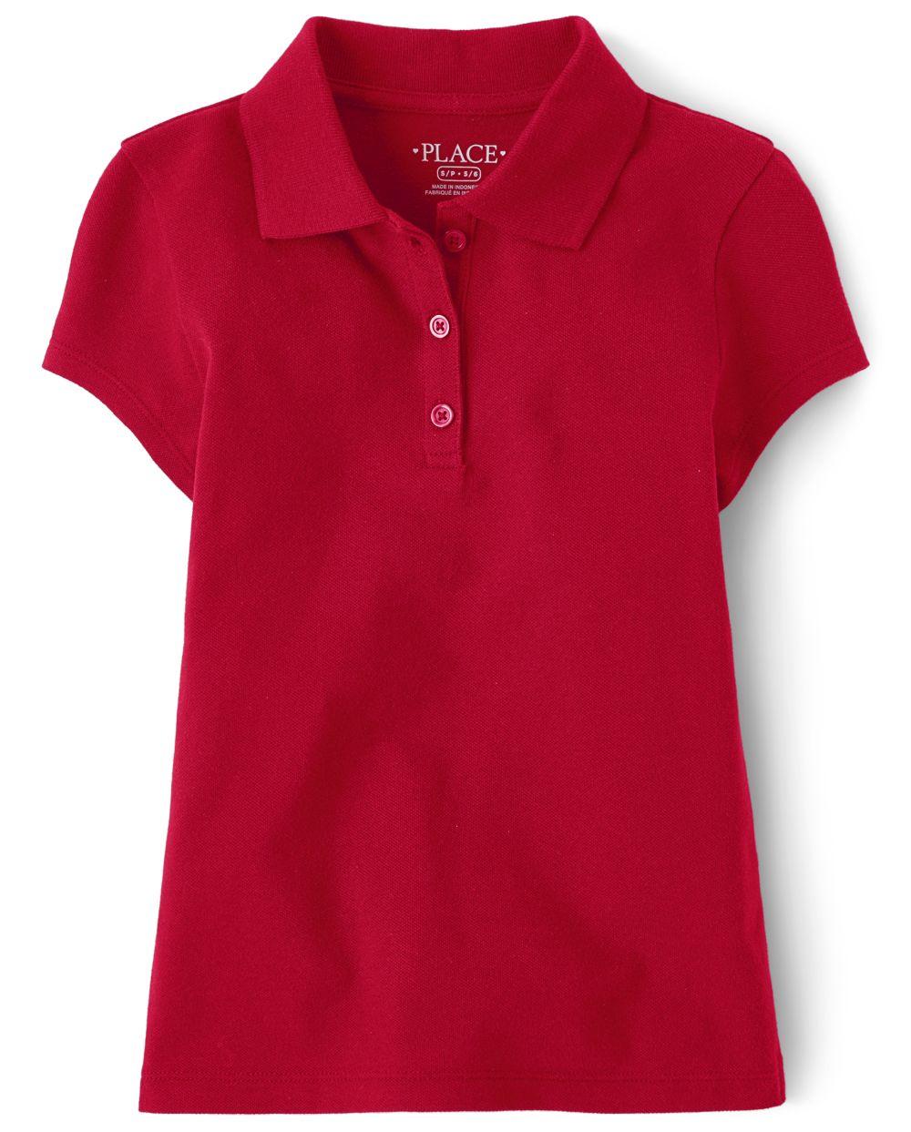 Polo de piqué uniforme para niñas