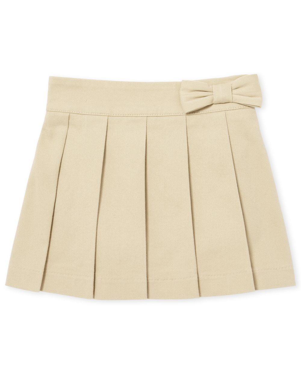 Toddler Girls Uniform Bow Pleated Pull On Skort