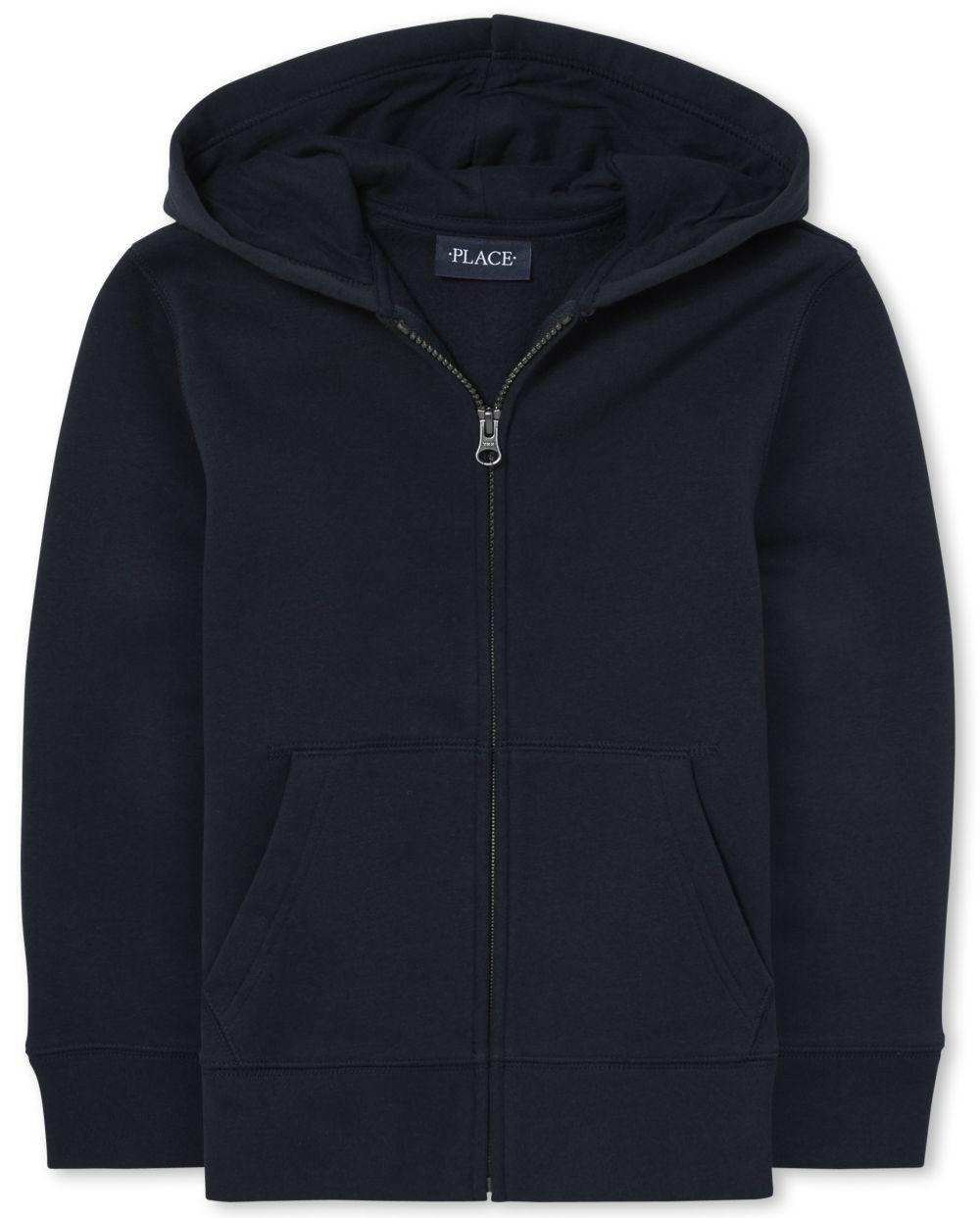 Boys Uniform Zip Up Hoodie
