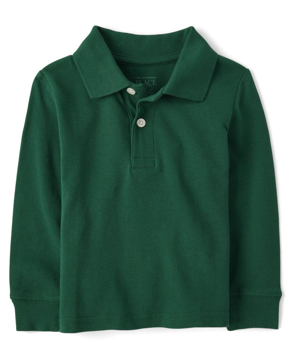 Baby And Toddler Boys Uniform Long Sleeve Pique Polo