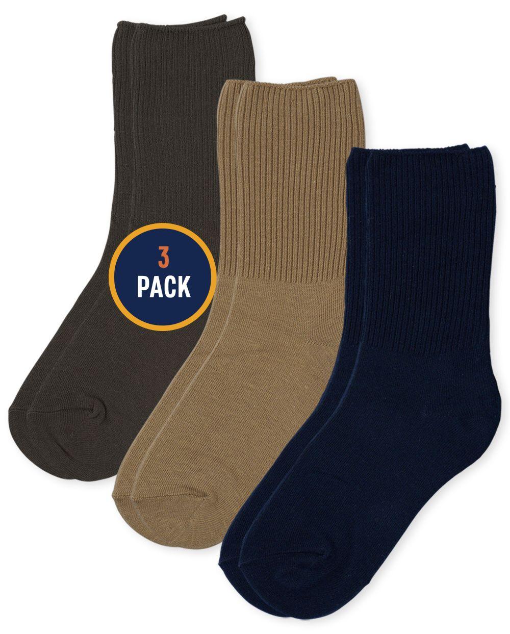 Boys Crew Socks 3-Pack
