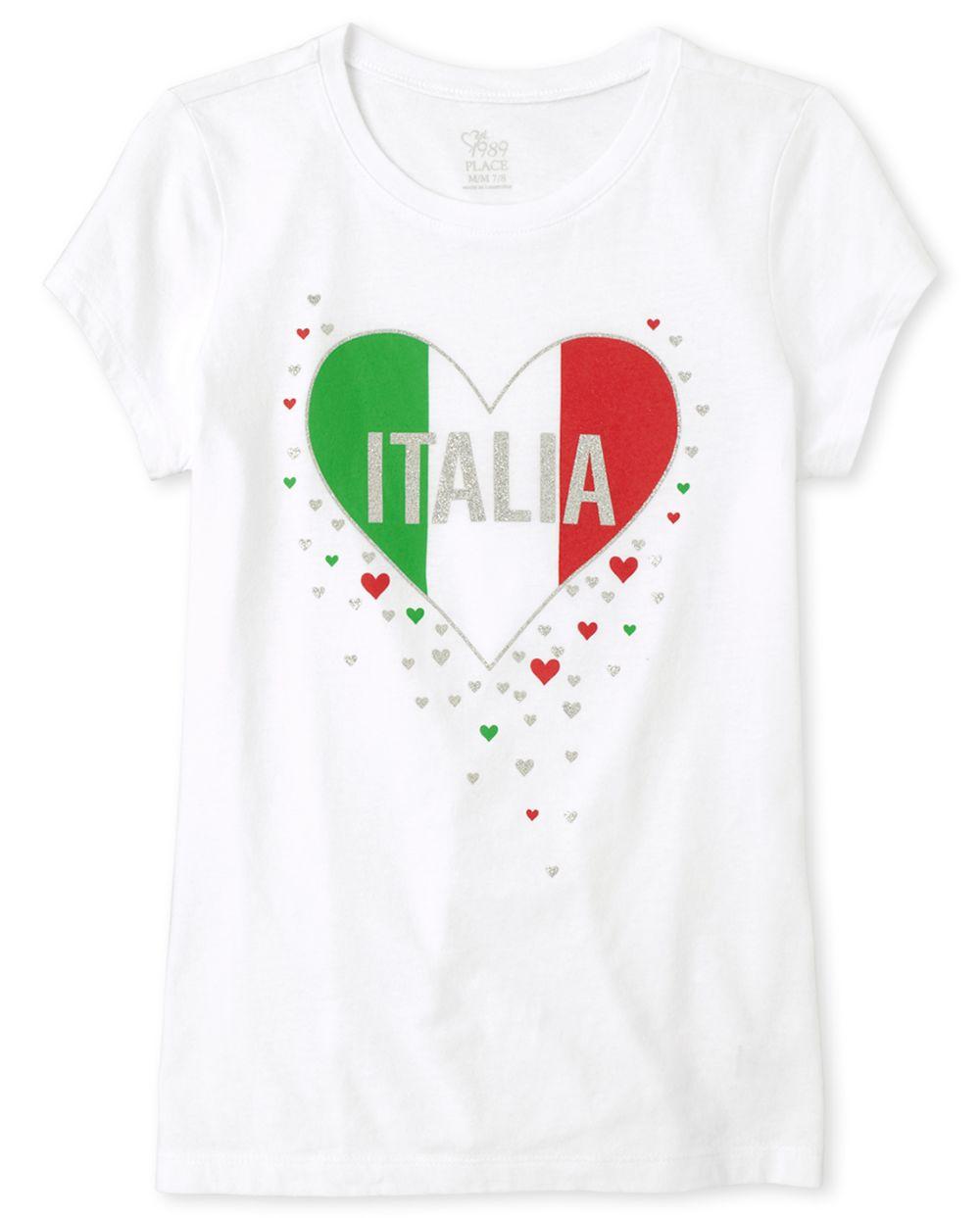 Girls Glitter Italia Graphic Tee