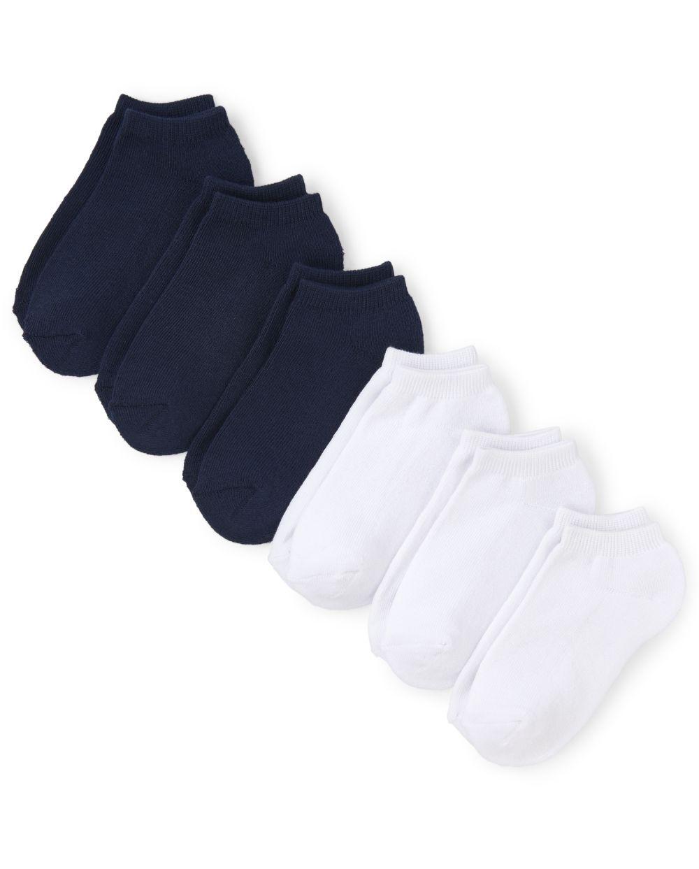 Calcetines tobilleros unisex para niños, paquete de 6