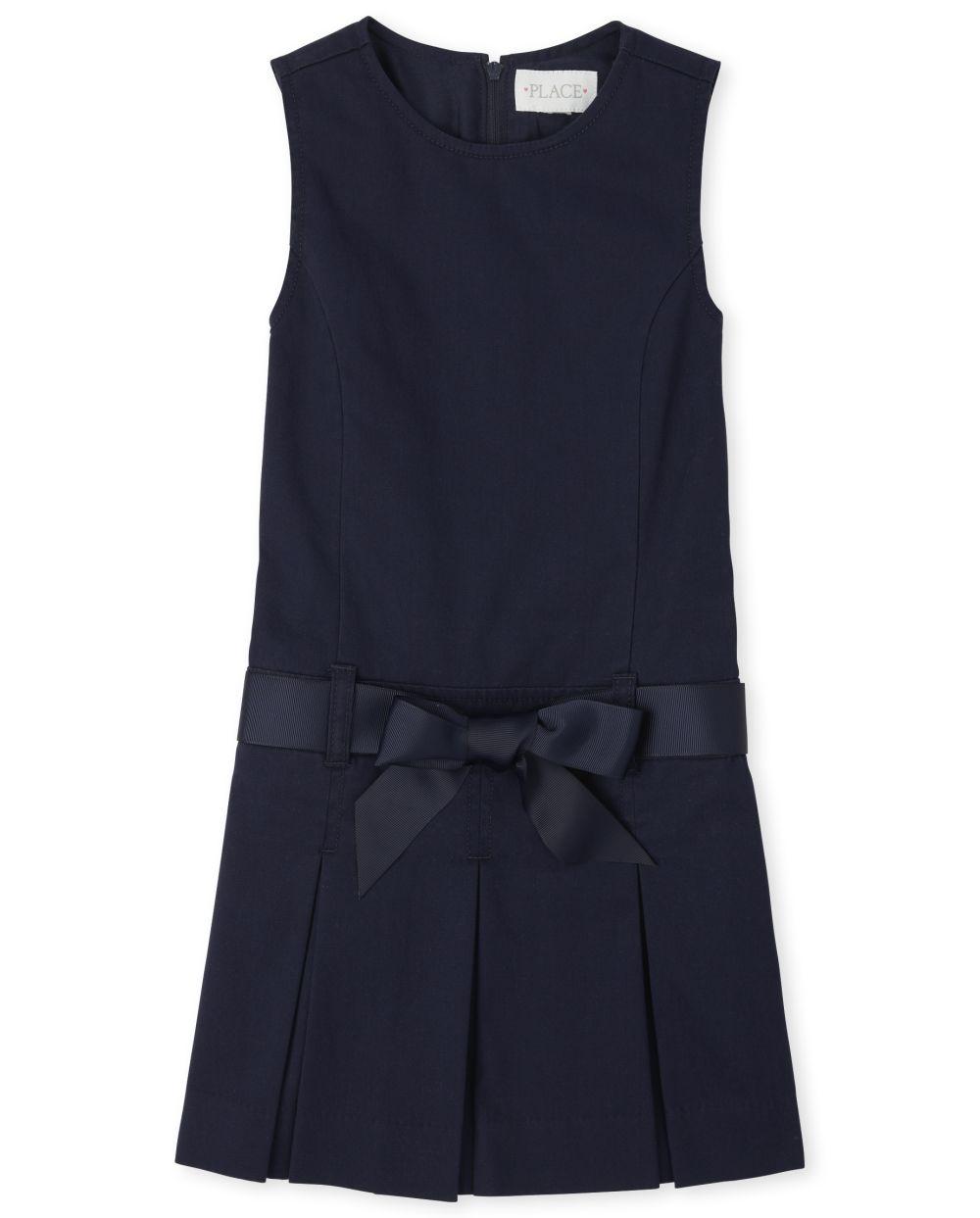 Jersey con cinturón de uniforme para niñas