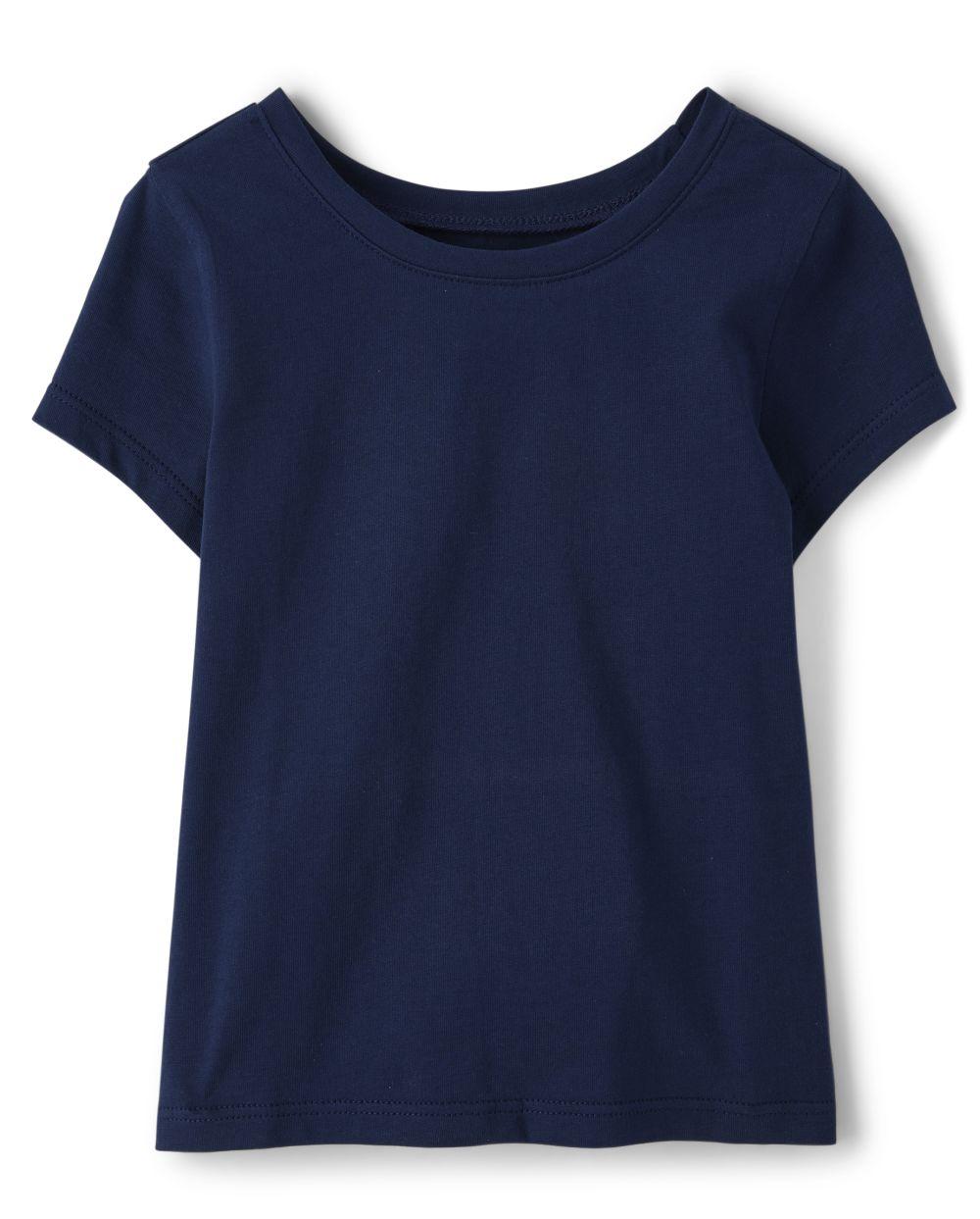 Camiseta básica de capas para bebés y niñas pequeñas