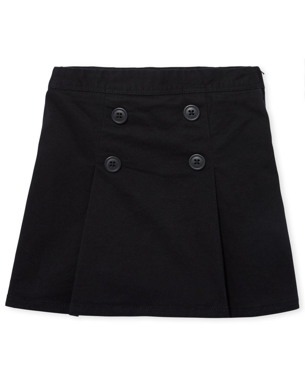 Girls Uniform Button Skort