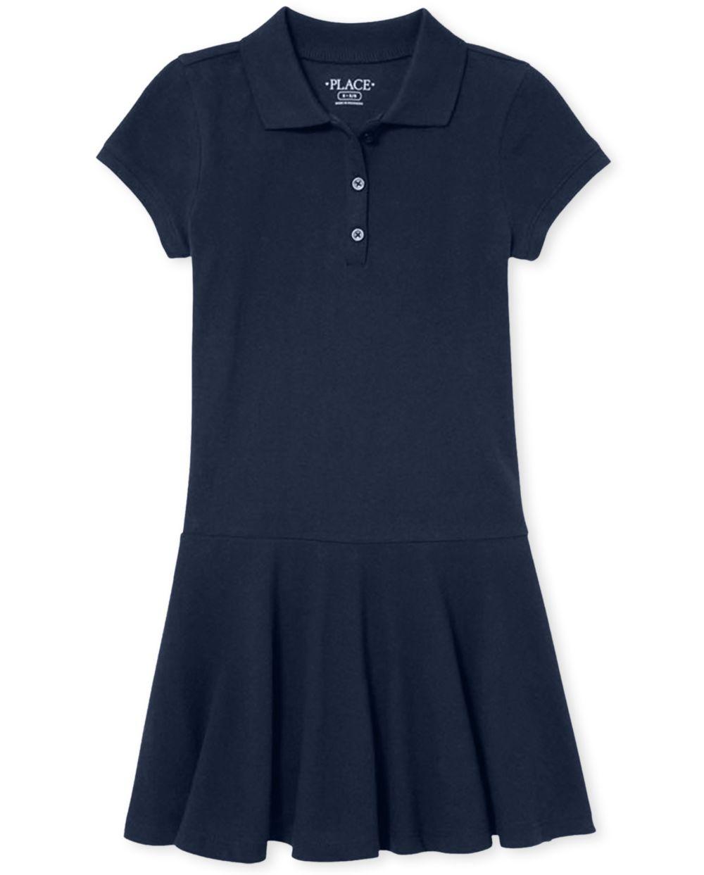 Girls Uniform Pique Polo Dress