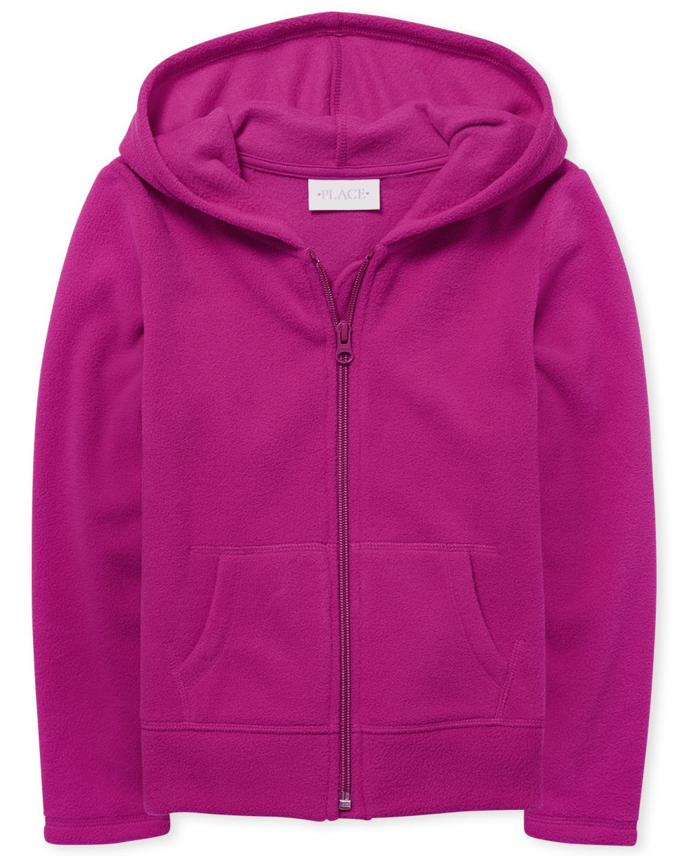 Girls Uniform Fleece Zip Up Hoodie