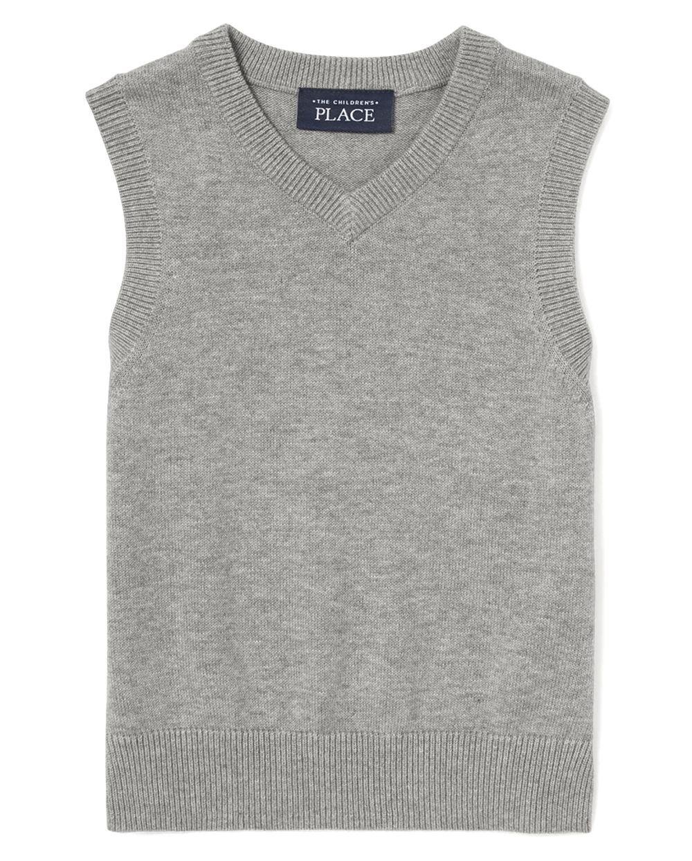 Toddler Boys Uniform V-Neck Sweater Vest