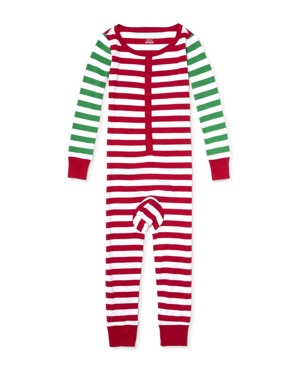 Unisex Kids Matching Family Long Sleeve Striped Snug Fit Cotton One Piece Pajamas