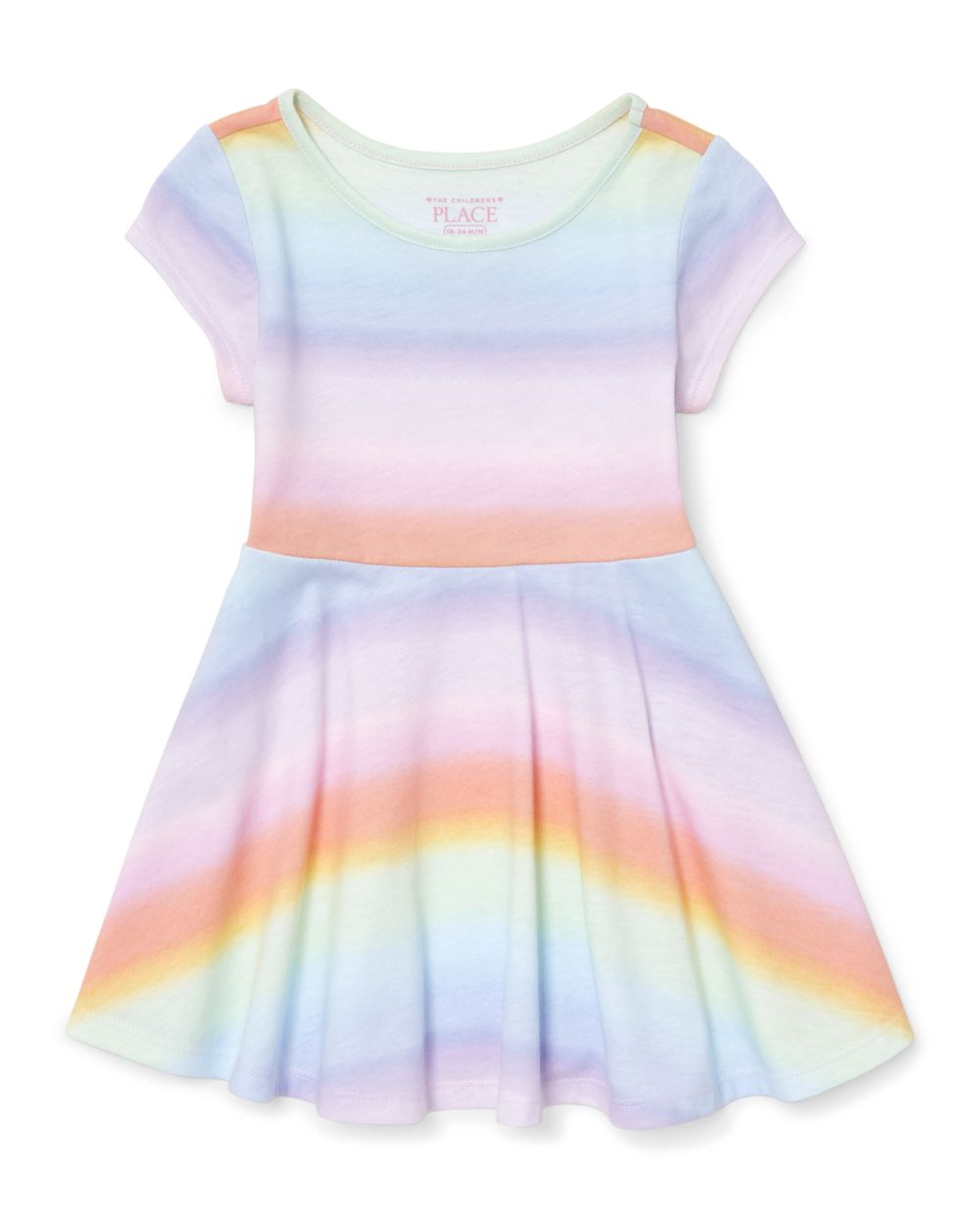 Baby And Toddler Girls Rainbow Ombre Dress