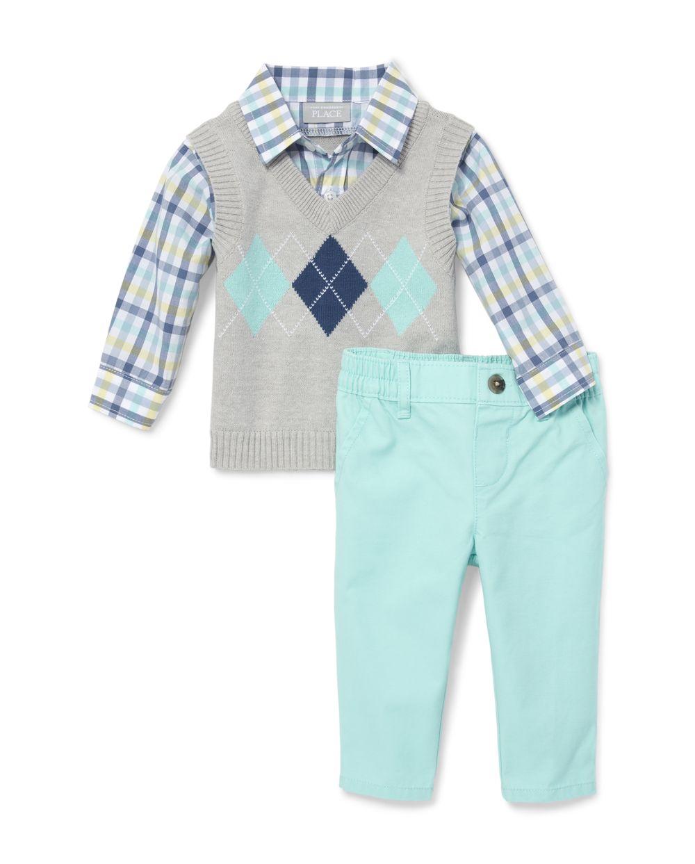 Baby Boys Argyle Outfit Set