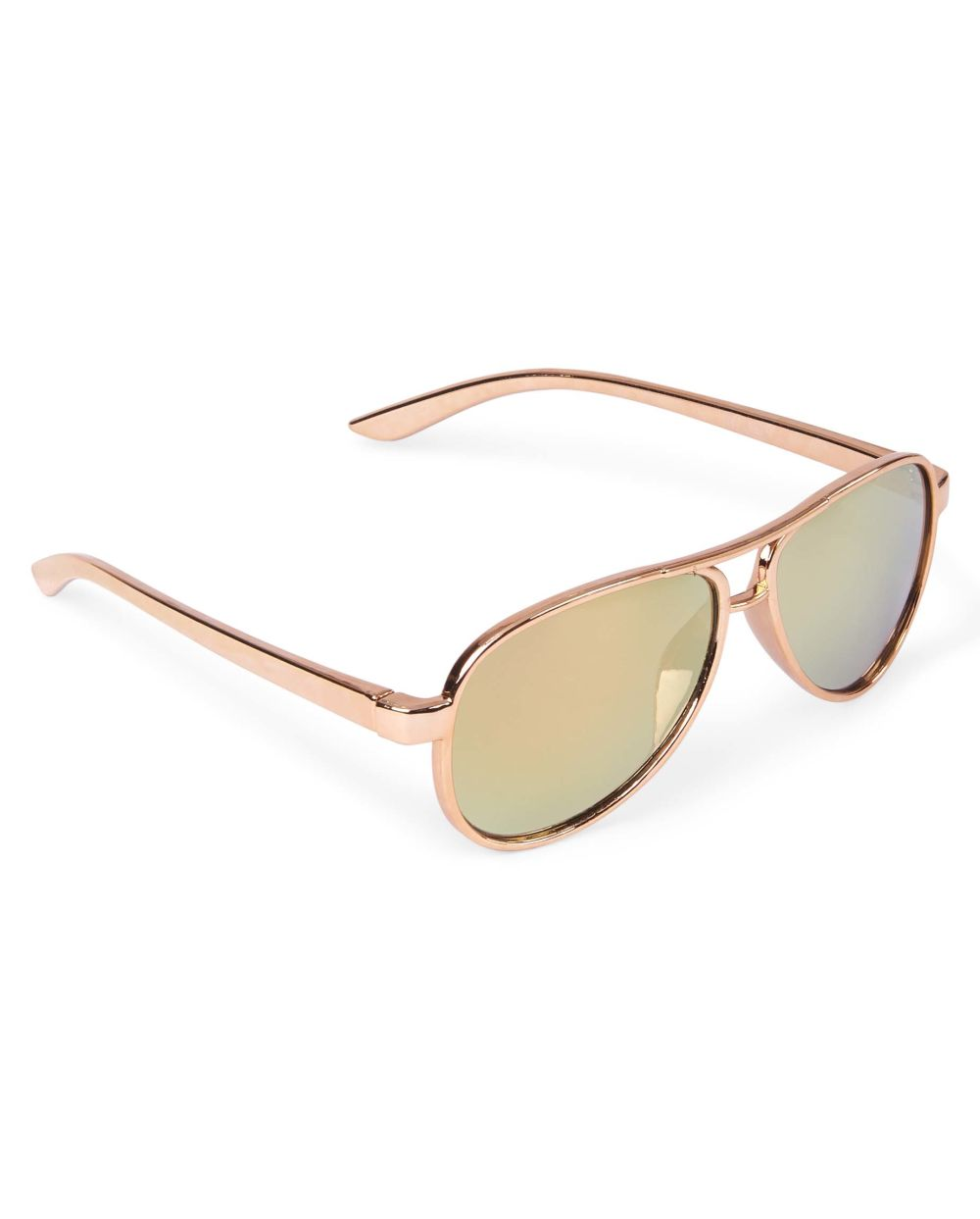 Toddler Girls Metallic Aviator Sunglasses