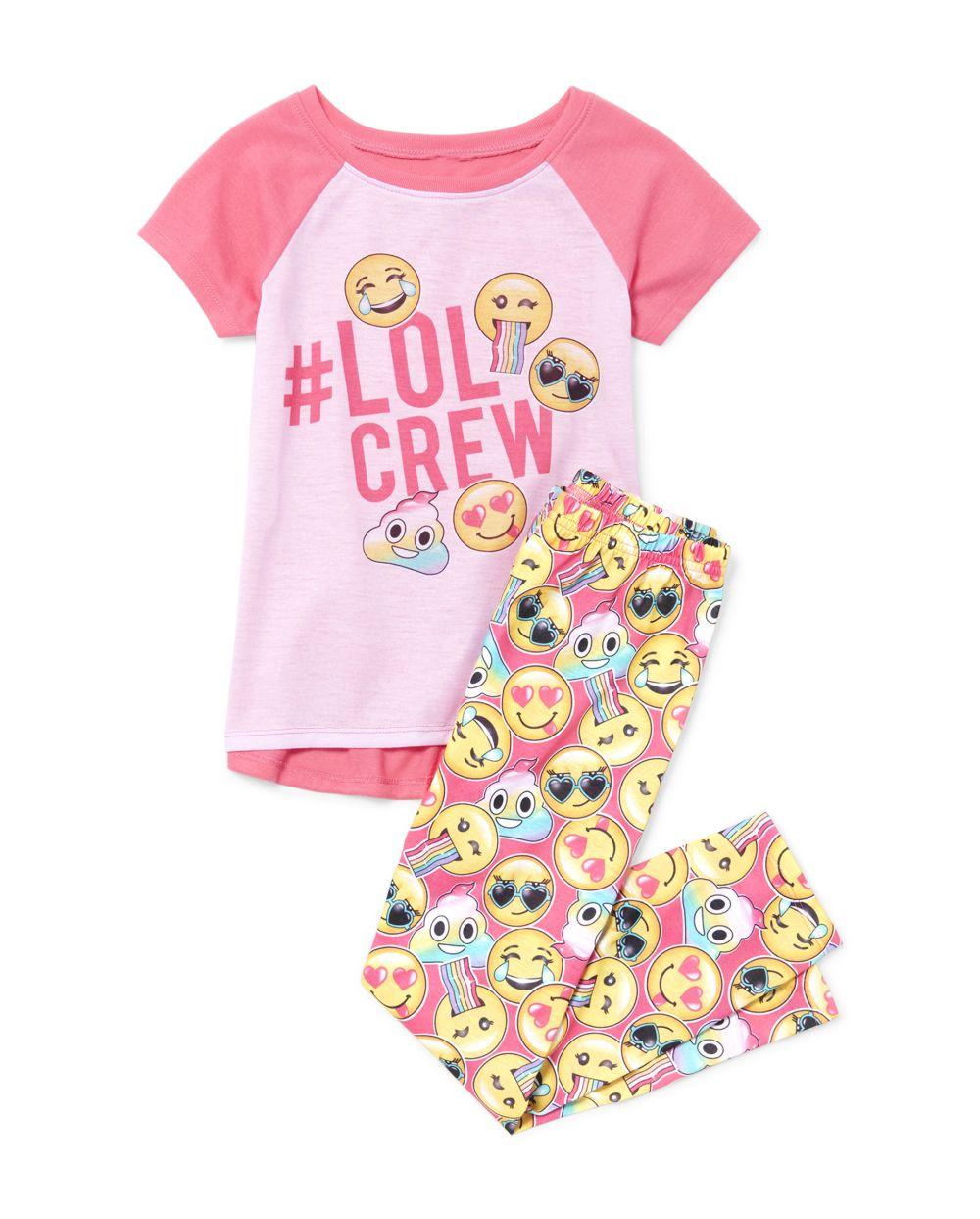Girls Emoji Pajamas