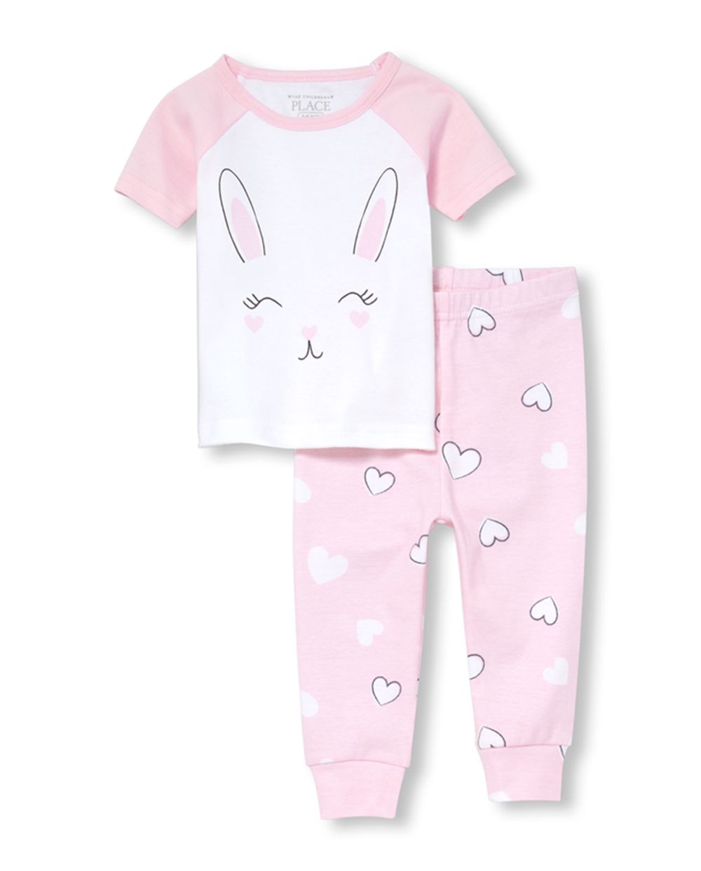 Baby And Toddler Girls Bunny Snug Fit Cotton Pajamas