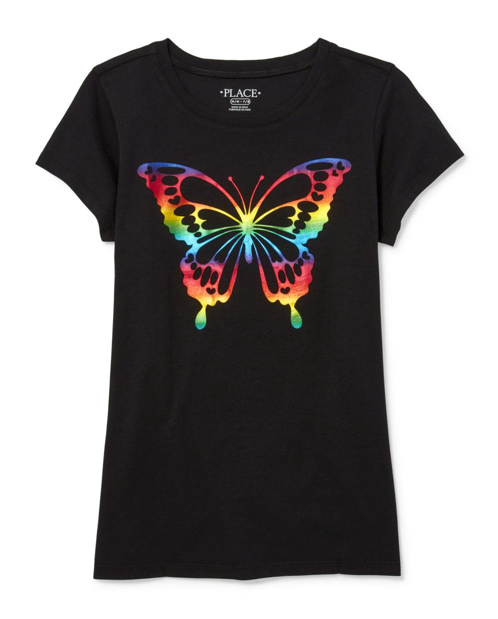 Girls Foil Butterfly Graphic Tee