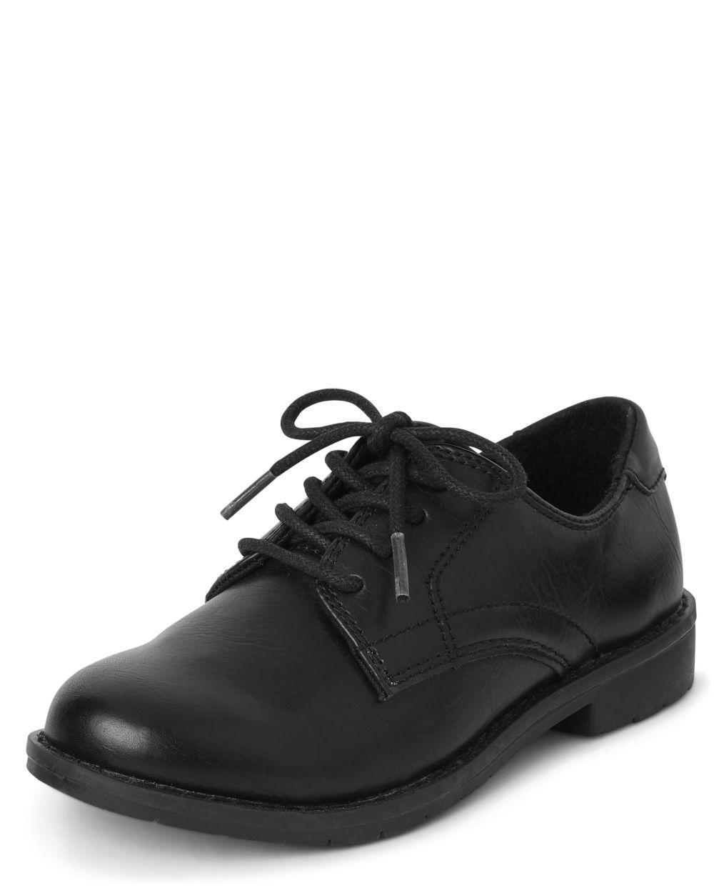 Boys Uniform Lace Up Dress Shoes