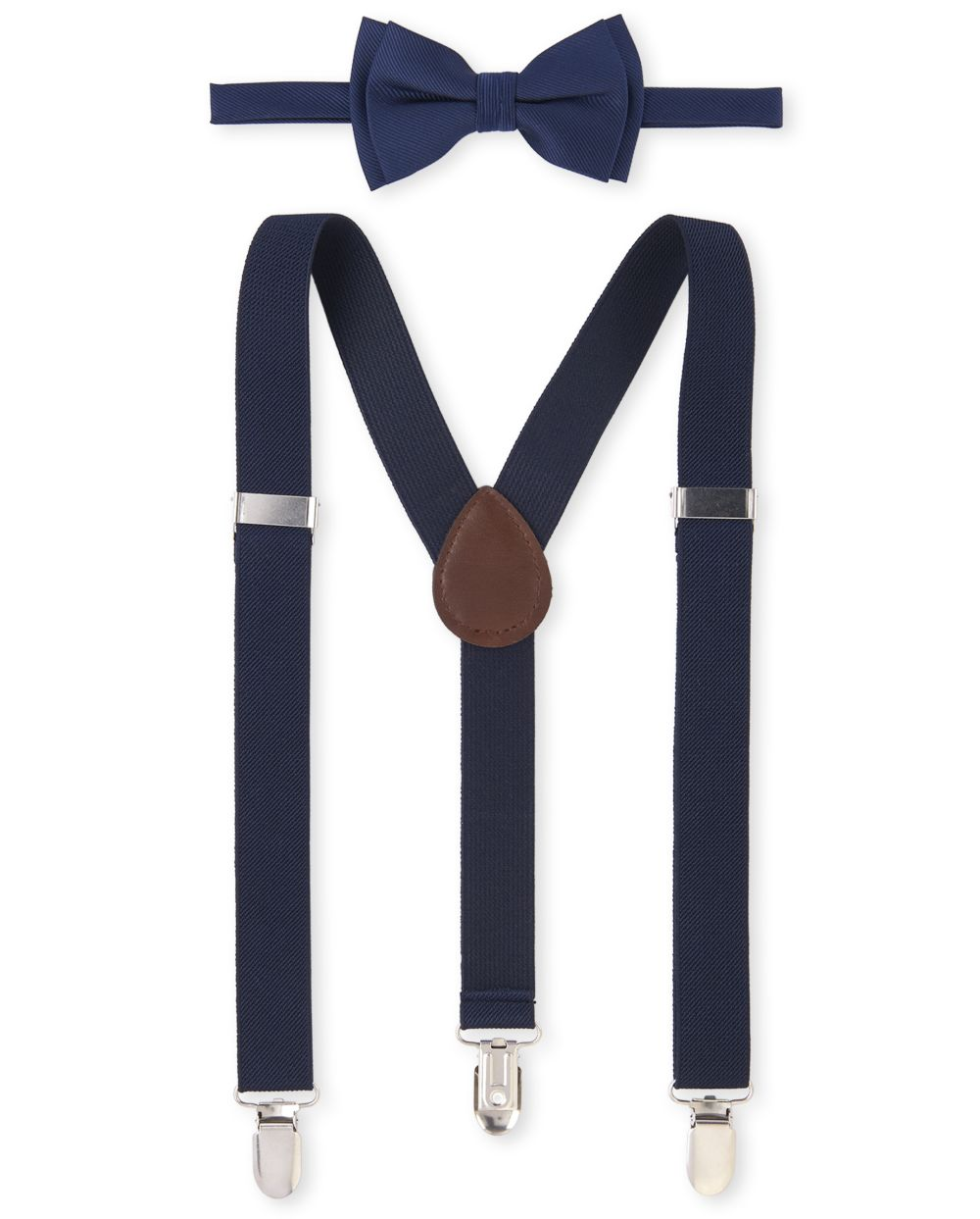 Boys Uniform Bow Tie And Suspenders Set