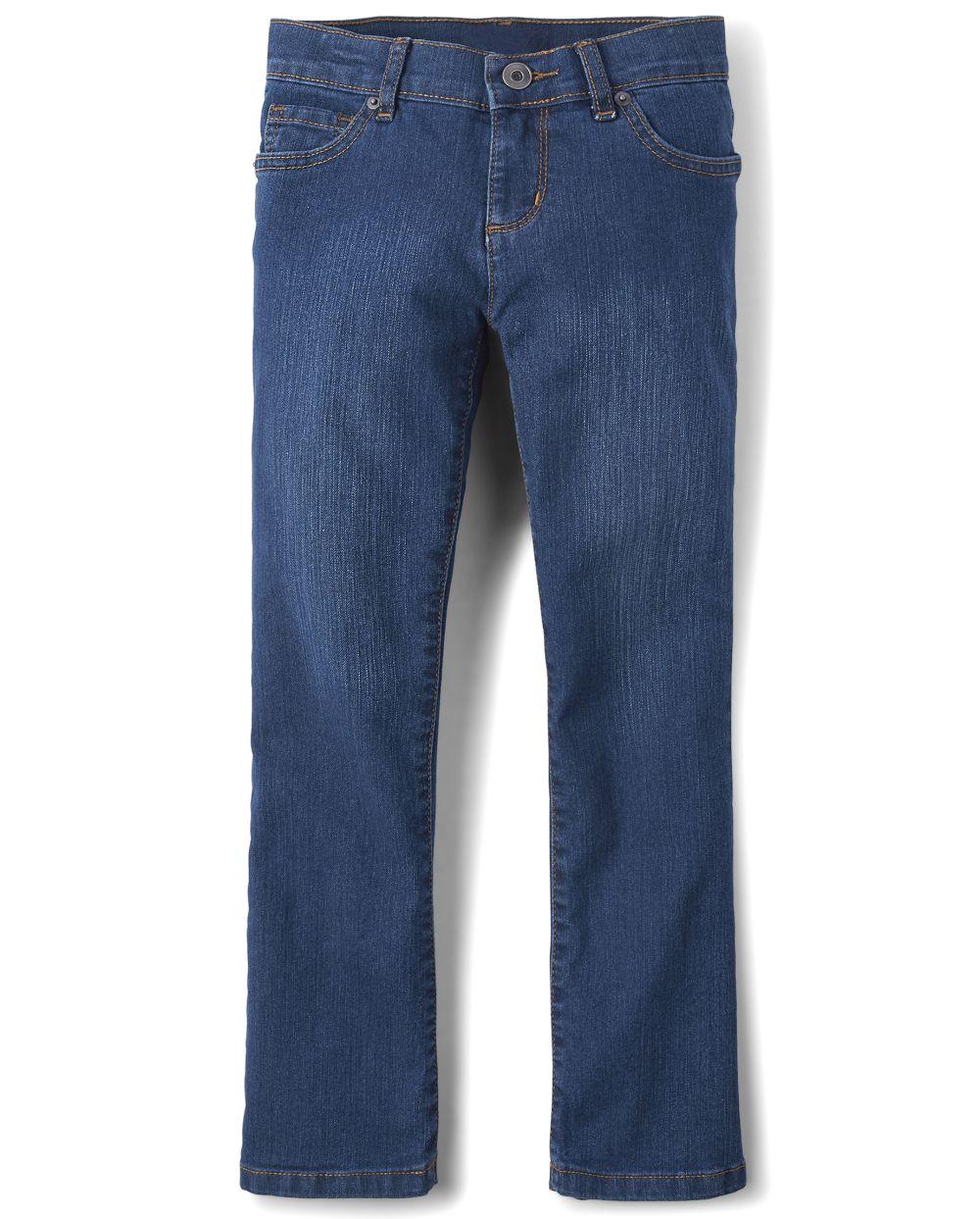 Girls Basic Bootcut Jeans