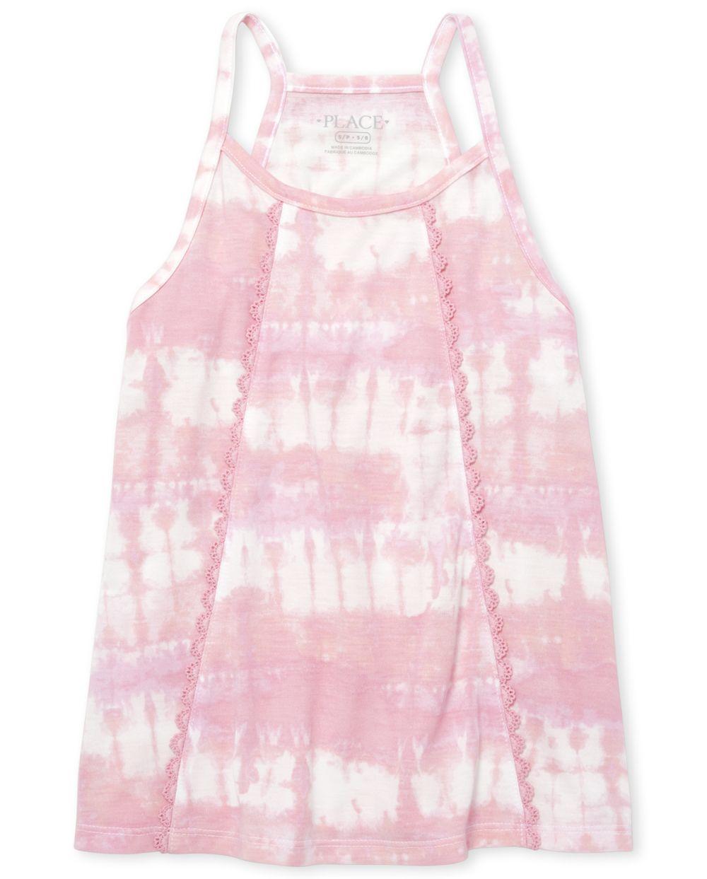 Girls Crochet Tie Dye Tank Top