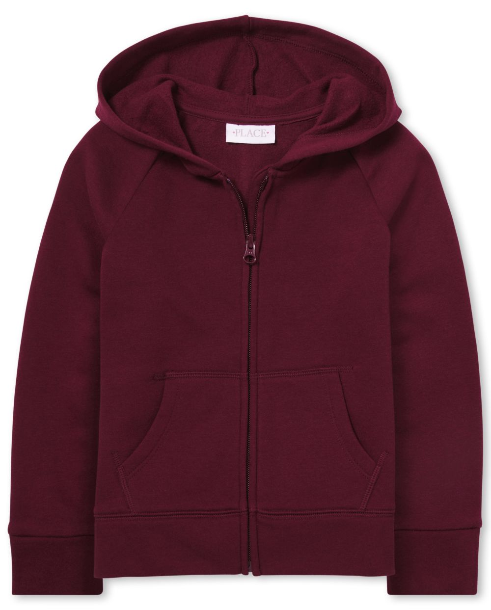 Girls Uniform French Terry Zip Up Hoodie