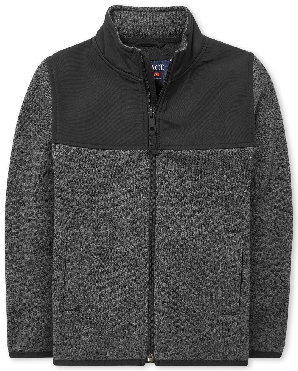 Boys Uniform Sweater Fleece Trail Jacket