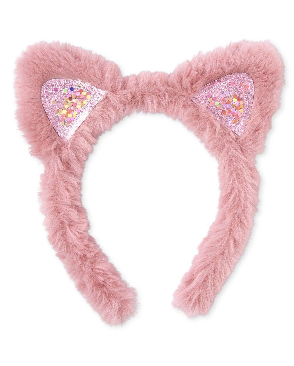 Girls Shakey Cat Ears Faux Fur Headband