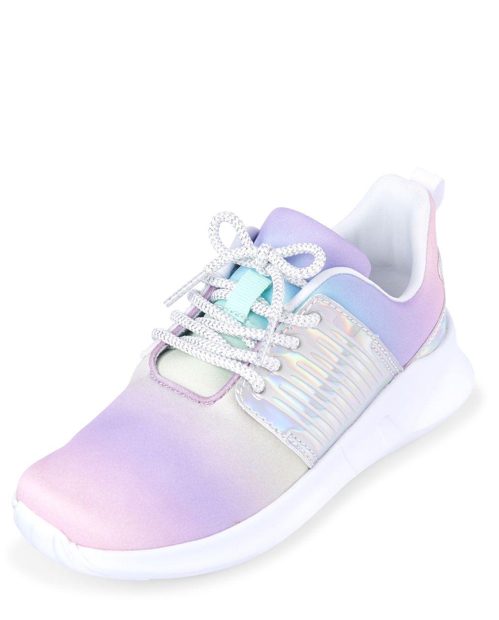 Girls Rainbow Running Sneakers