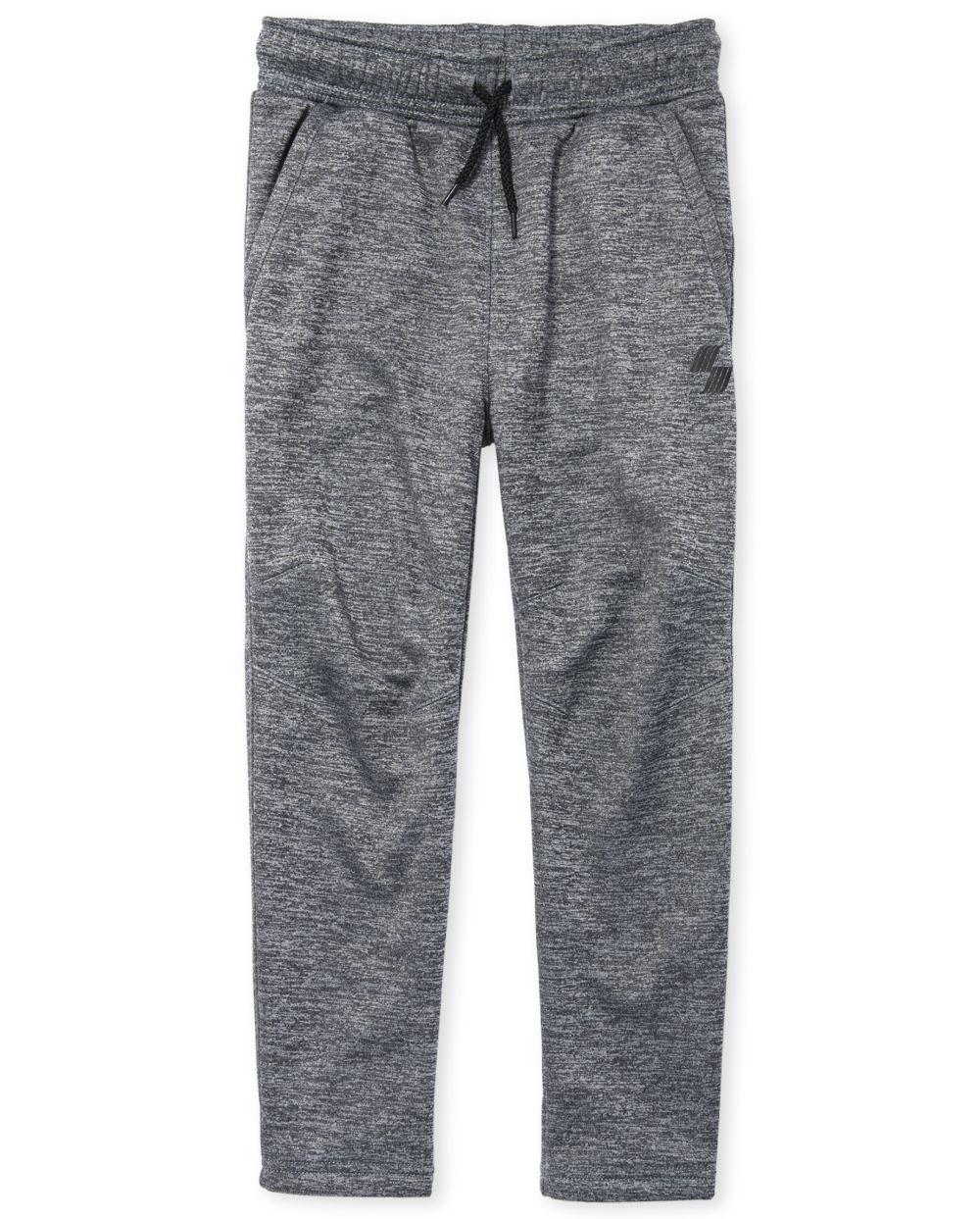 Boys Mix And Match Marled Performance Fleece Pants