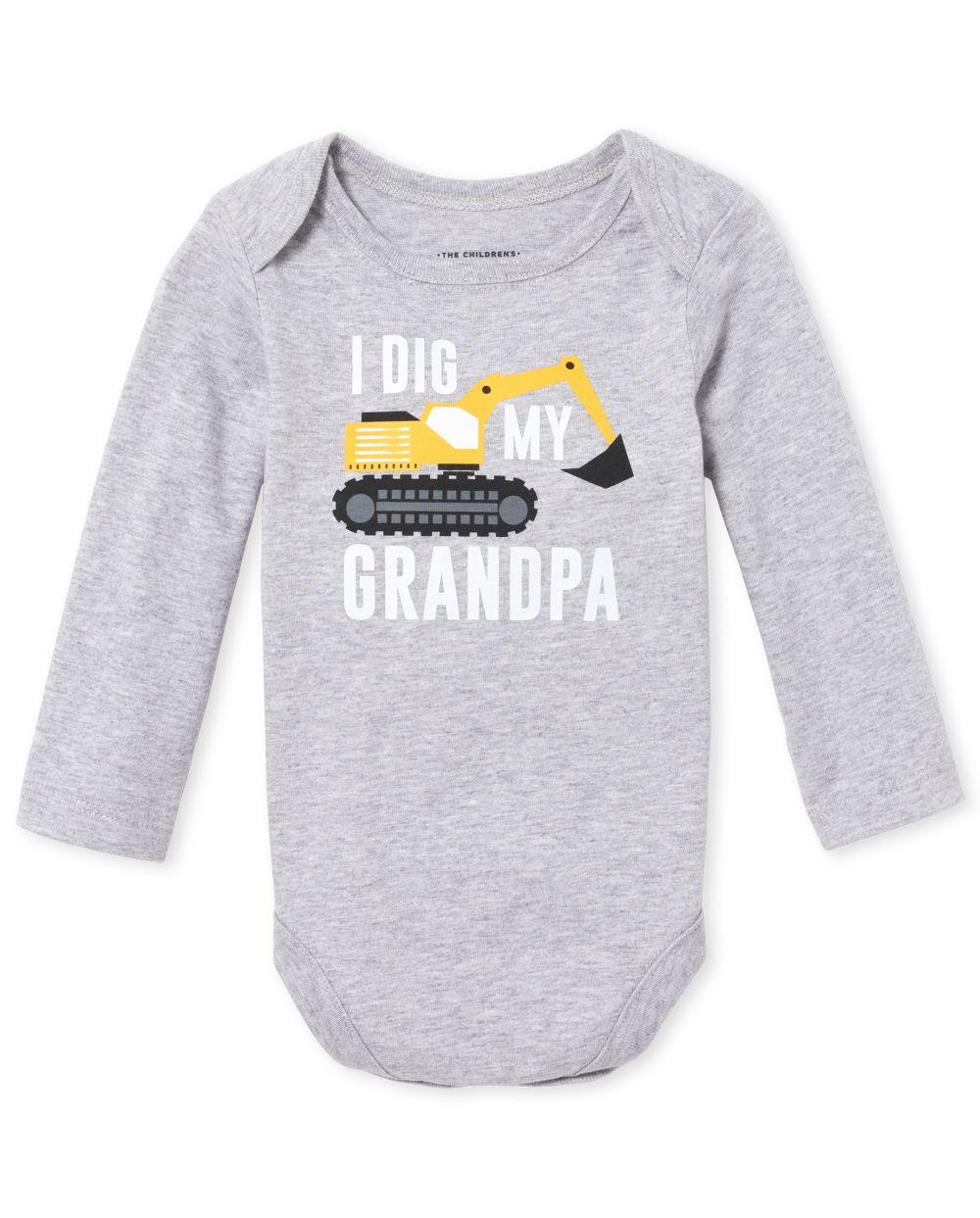 Baby Boys Grandpa Truck Graphic Bodysuit
