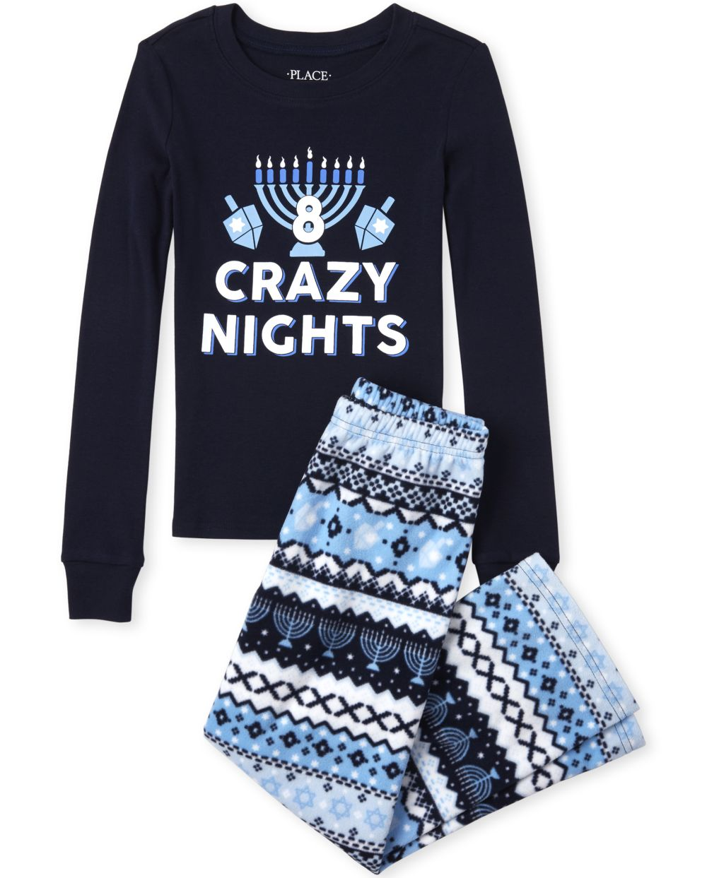 Unisex Kids Matching Family 8 Crazy Nights Snug Fit Cotton And Fleece Pajamas