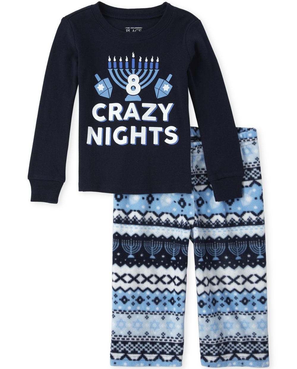 Unisex Baby And Toddler Matching Family 8 Crazy Nights Snug Fit Cotton And Fleece Pajamas