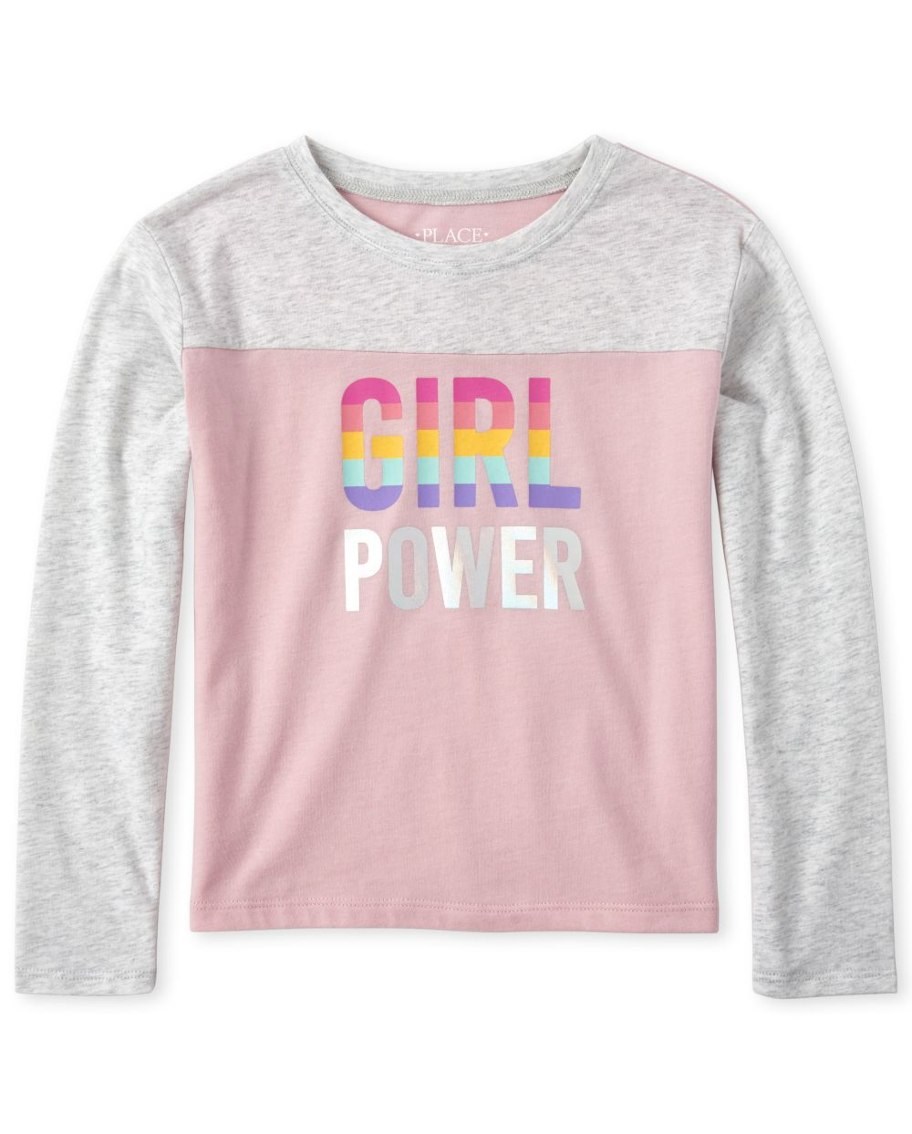 Girls Active Foil Football Top