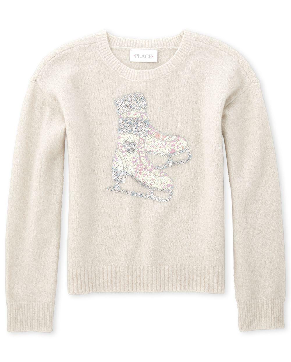 Girls Embellished Sweater