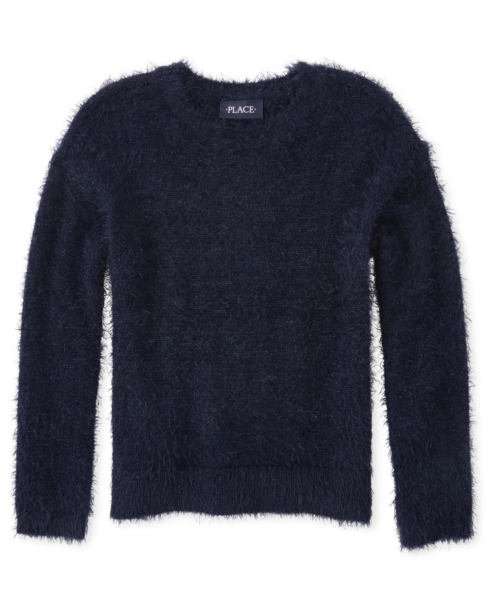 Girls Glitter Eyelash Sweater
