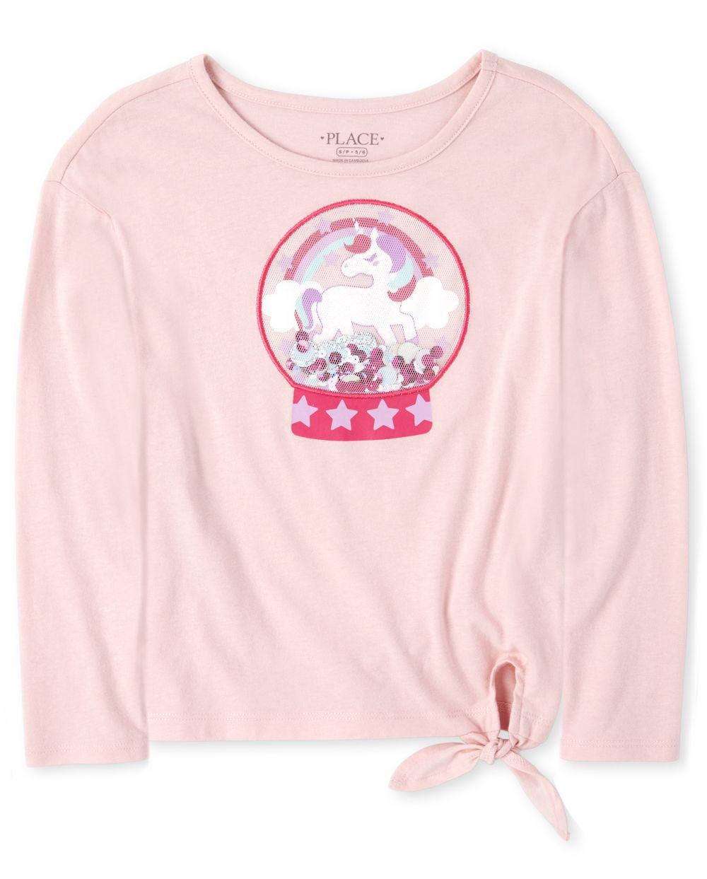 Top con lazo de unicornio Shakey para niñas