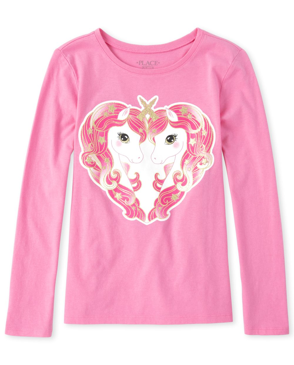 Girls Mommy And Me Glitter Unicorn Heart Matching Graphic Tee