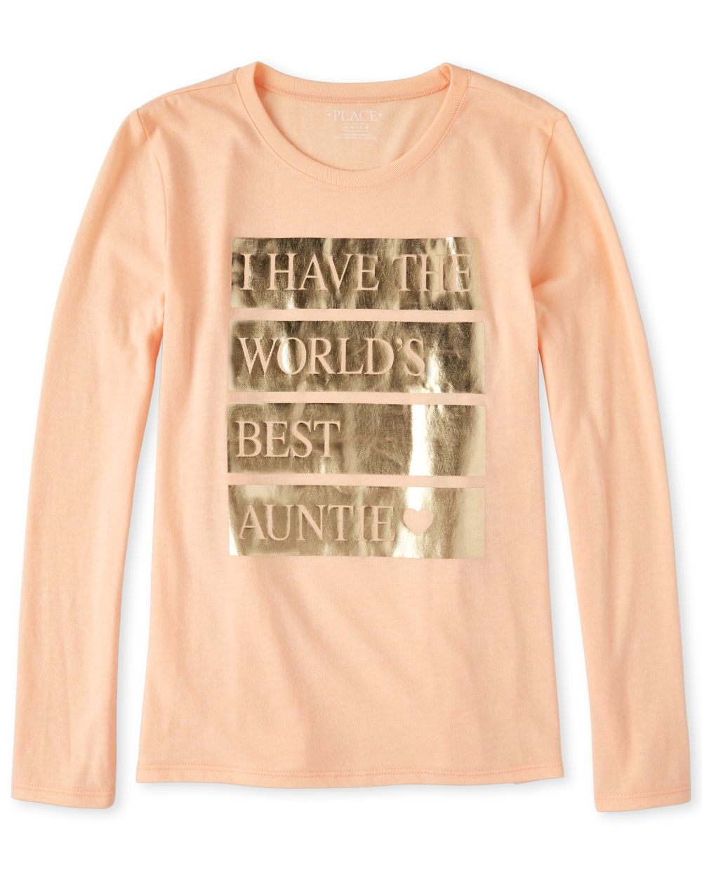 Girls Foil Best Auntie Graphic Tee