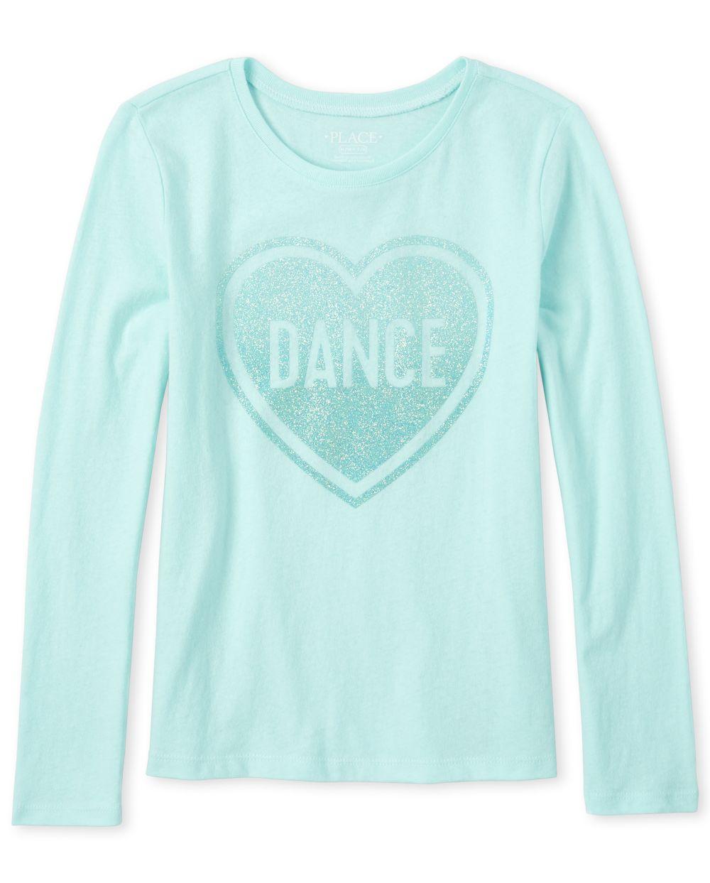 Girls Glitter Dance Graphic Tee