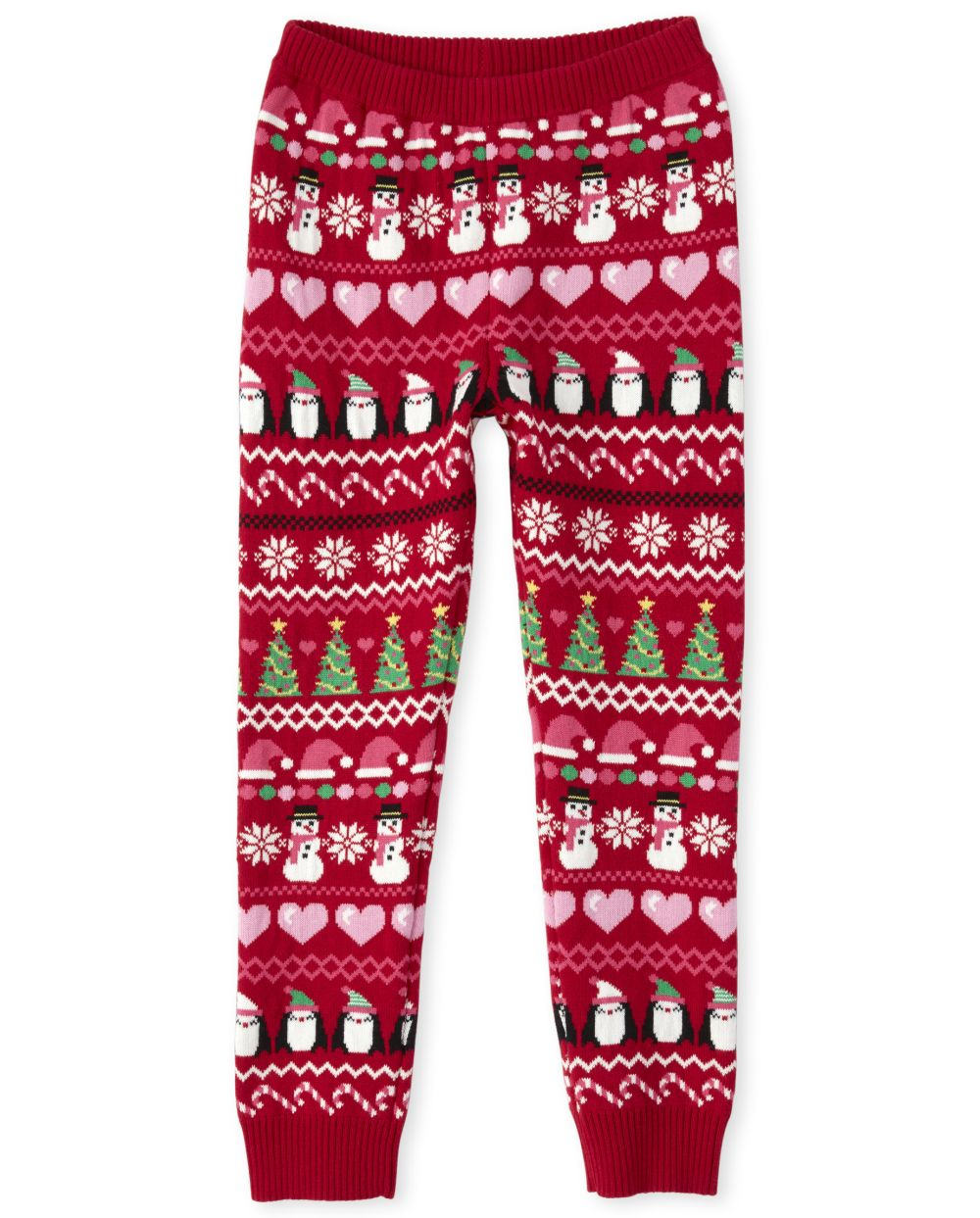 Toddler And Girls Penguin Party Sweater Leggings
