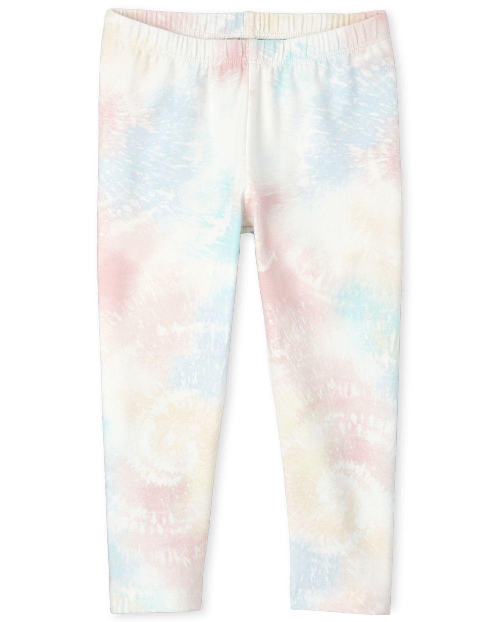Girls Tie Dye Capri Leggings