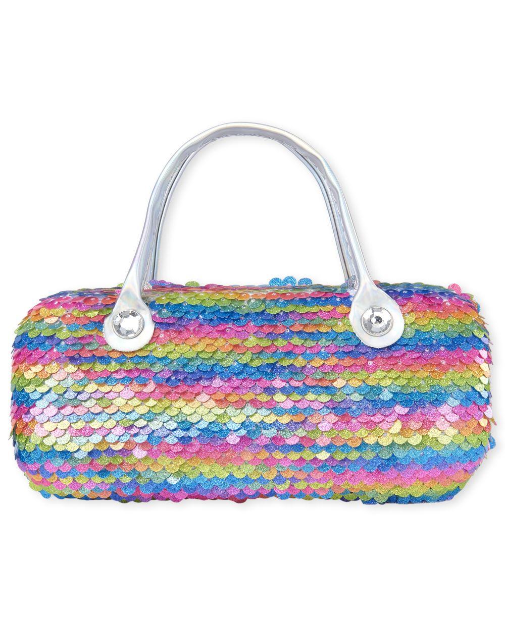 Girls Flip Sequin Rainbow Sunglasses Case