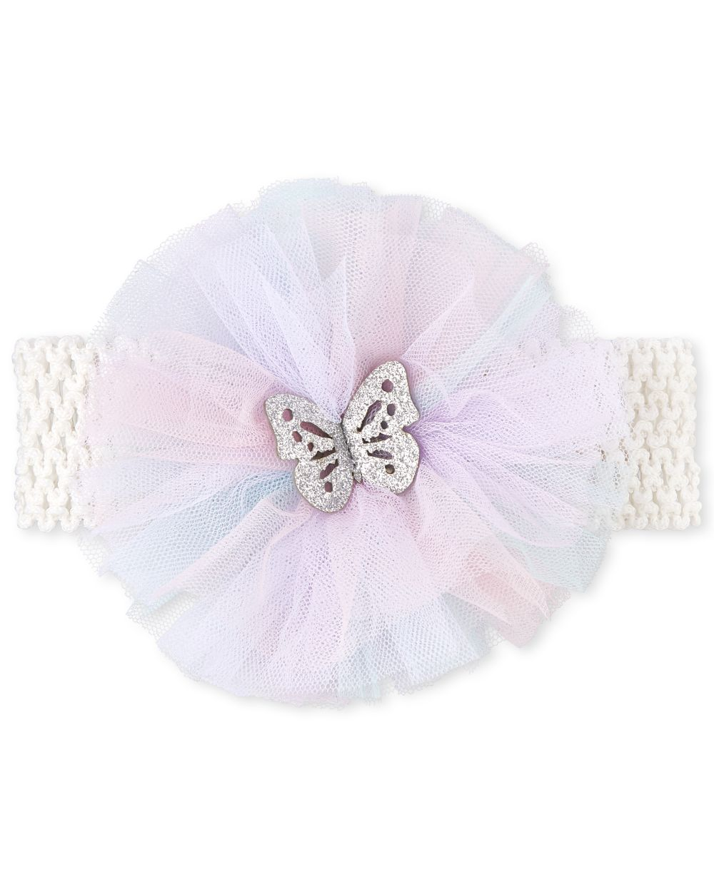 Baby Girls Glitter Butterfly Flower Headwrap