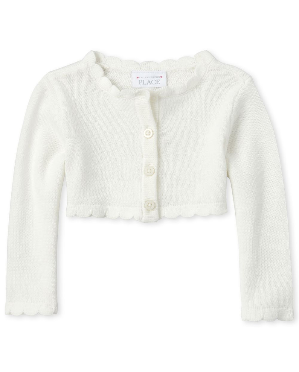 Baby Girls Scalloped Cardigan