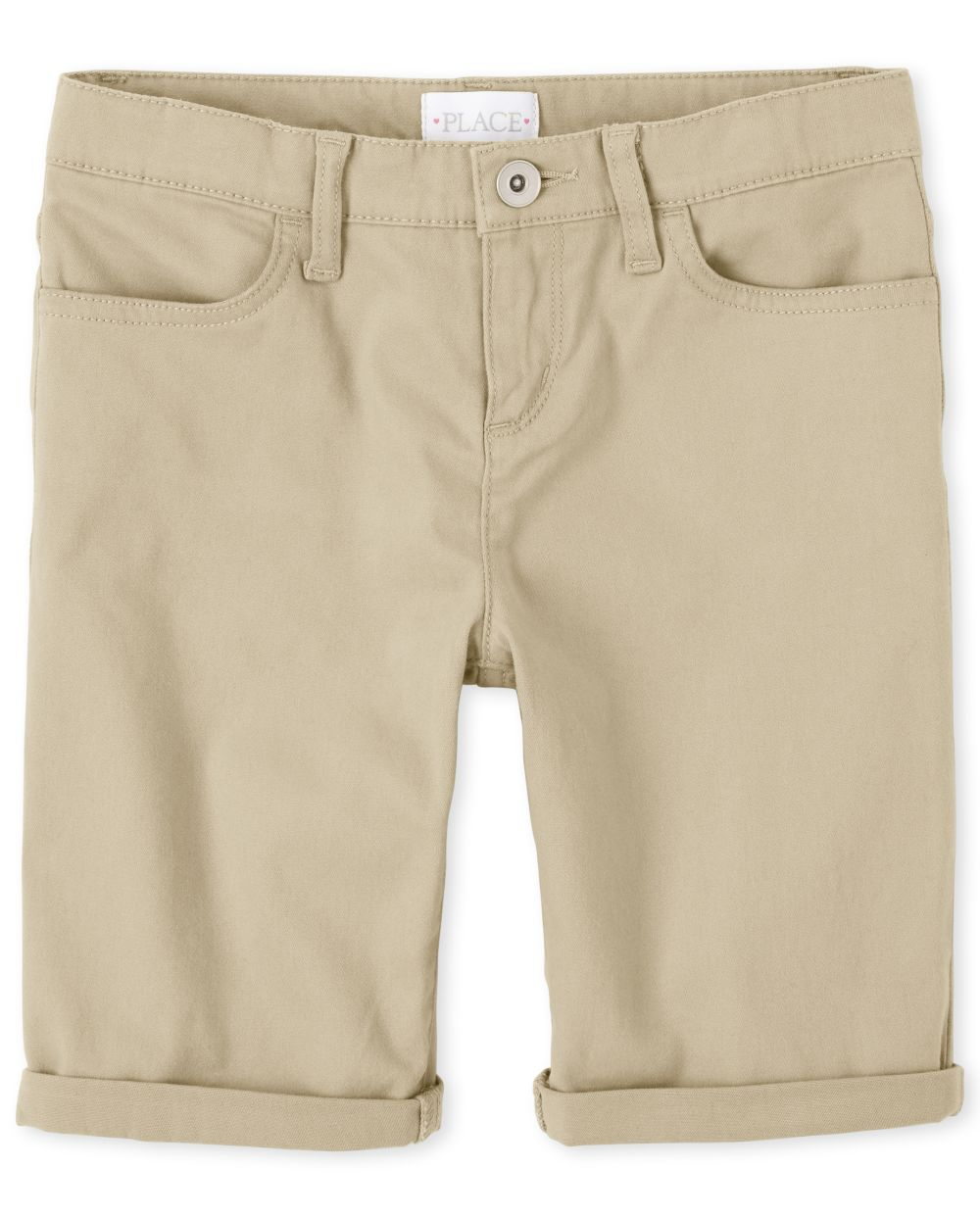 Girls Roll Cuff Skimmer Shorts