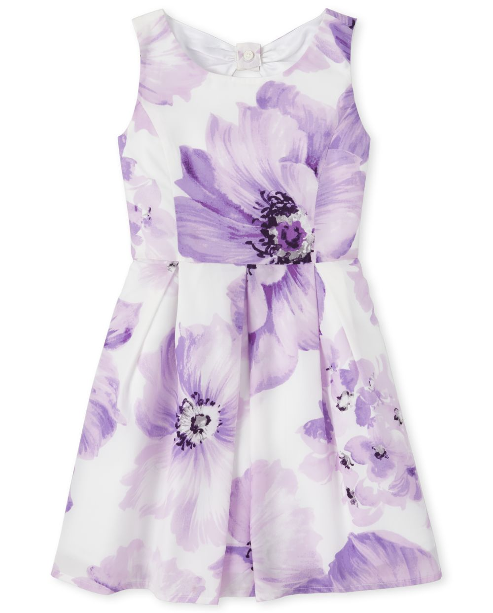 Girls Floral Pleated Dress
