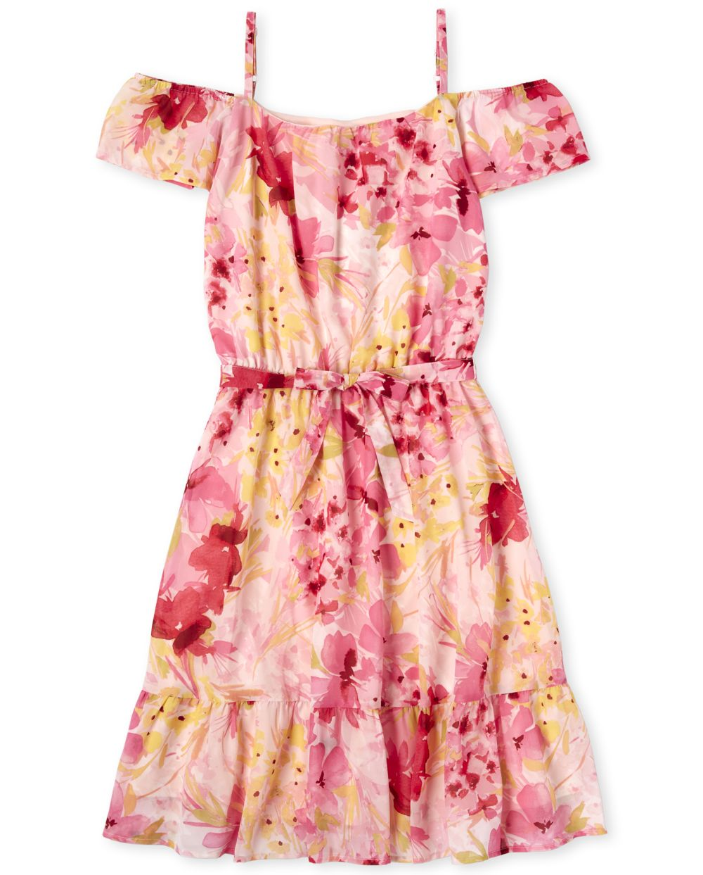 Womens Mommy And Me Floral Matching Off Shoulder Dress