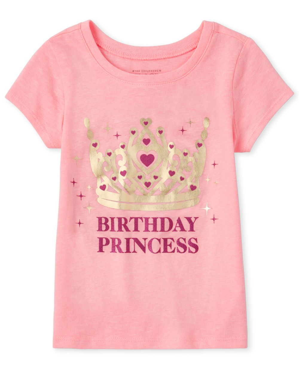 Baby And Toddler Girls Mommy And Me Glitter Birthday Princess Matching Graphic Tee