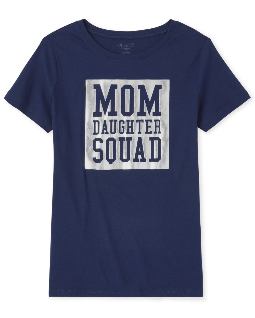 Womens Matching Family Foil Squad Graphic Tee