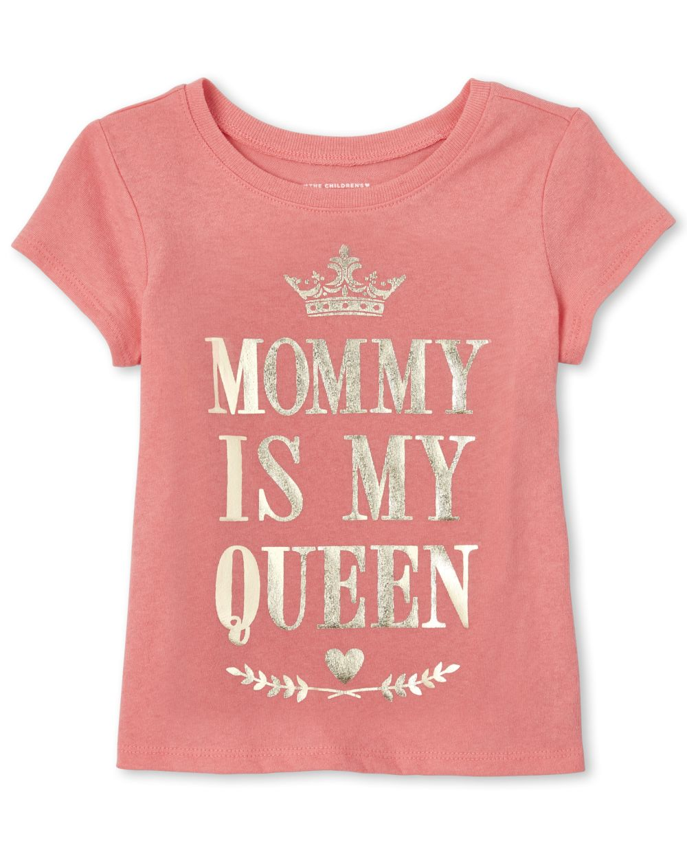 Baby And Toddler Girls Foil Queen Matching Graphic Tee